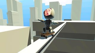 99% IMPOSSIBLE SKATEBOARD TIGHTROPE GRIND! (Turbo Dismount #10)