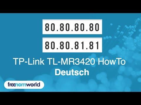 Freenom World TP-Link TL-MR3420 HowTo (German)