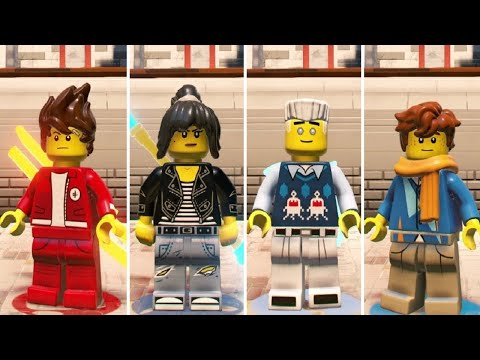 The LEGO Ninjago Movie Videogame - How to Unlock all Ninjas (High School)