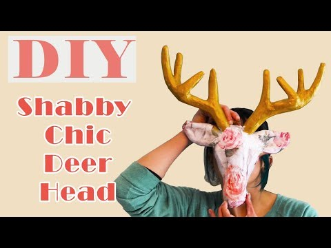 Customizable Paper Mache Deer Head DIY Wall Decor