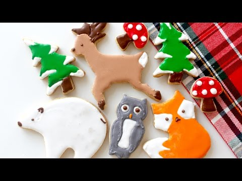 Holiday Woodland Cookies with Christmas Spices + Orange Zest! | RECIPE