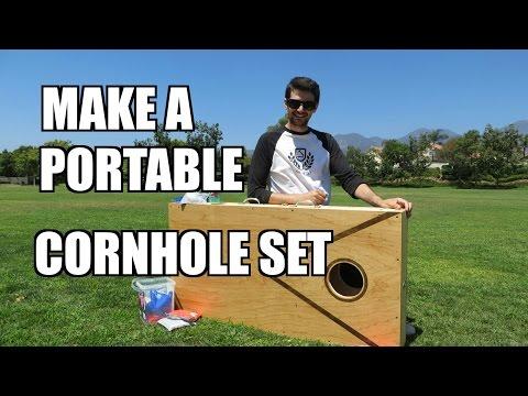 Portable Cornhole! How to make a portable cornhole game - Ep. 105