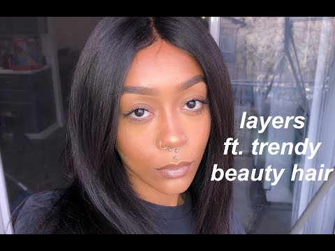CUTTING LAYERS! FT. TRENDY BEAUTY HAIR