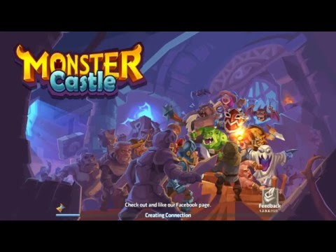 Monster Castle game app second day of playing