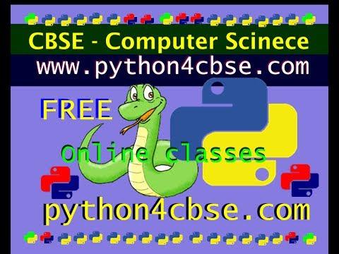 Python Tutorial CBSE Computer Science Syllabus interpreter Tutorial 3