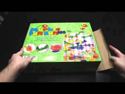 Marble Fun Run 105 pc Set Unboxing and Review