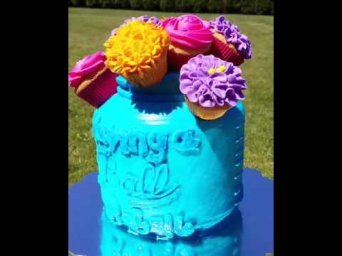 Mason Jar/ball jar cake