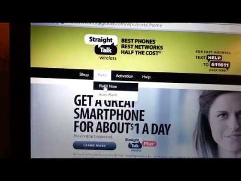 How to add Straight Talk service card to phone