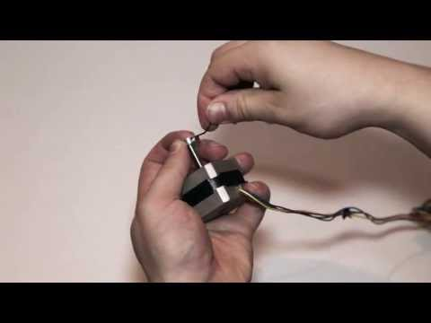How to attach something to a smooth stepper motor shaft