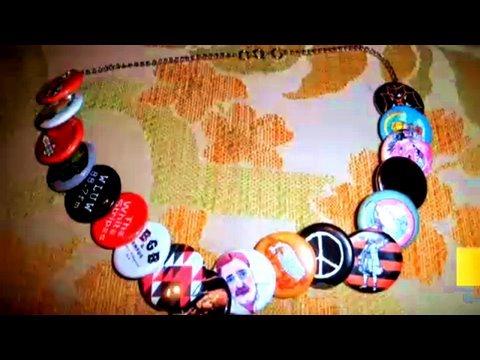 Make a Button Necklace, Green Festival, Janome, Threadbanger