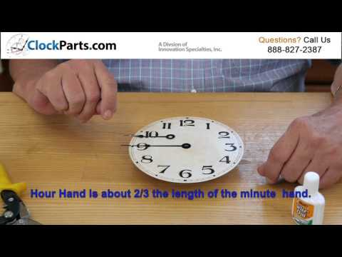 How to Make Clock Hands Fit any Dial Face