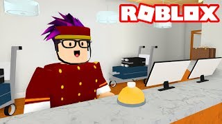 WORKING AT A HOTEL IN ROBLOX