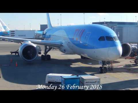 StarClass TUIfly ✈ Cabin tour ✈ Dreamliner Curaçao via Aruba 2018.