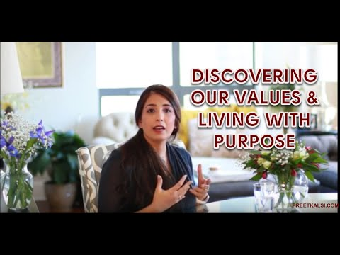 Discovering Our Values & Living With Purpose
