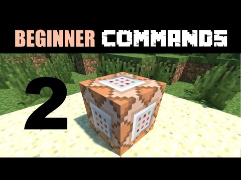 Beginner Command Block Tutorial Part 2 - The /setblock Command and Information About Commands
