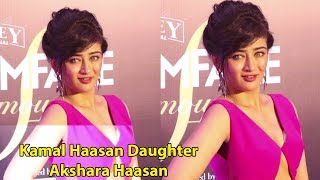 First Time Kamal Haasan Daughter Akshara Haasan At At Filmfare Glamour & Style Awards