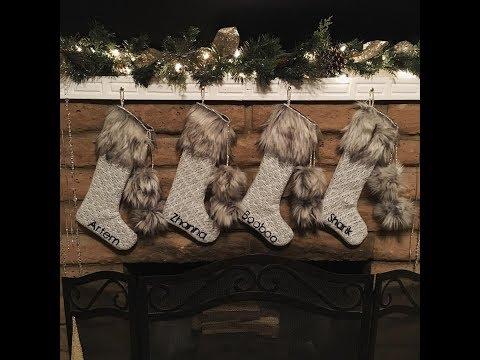 Tutorial: DIY Christmas Fireplace Stockings with Fur