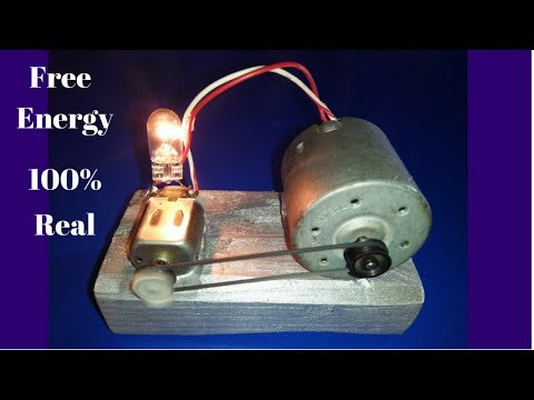 How to Made Free Energy Generator Self Running Dc Motor Generator Project 2018