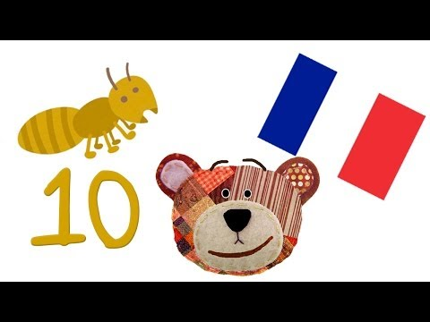 Learn how to count to 10 in french: The insects