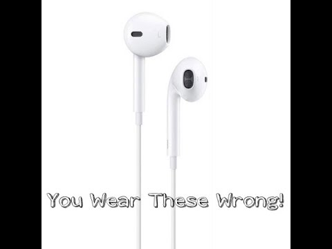 How to correctly wear apple earbuds