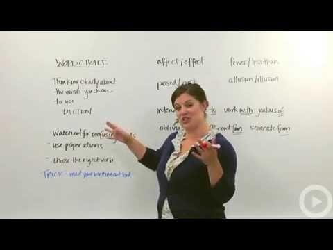 Word Choice   Grammar Video By English Spoken Here Video 2016