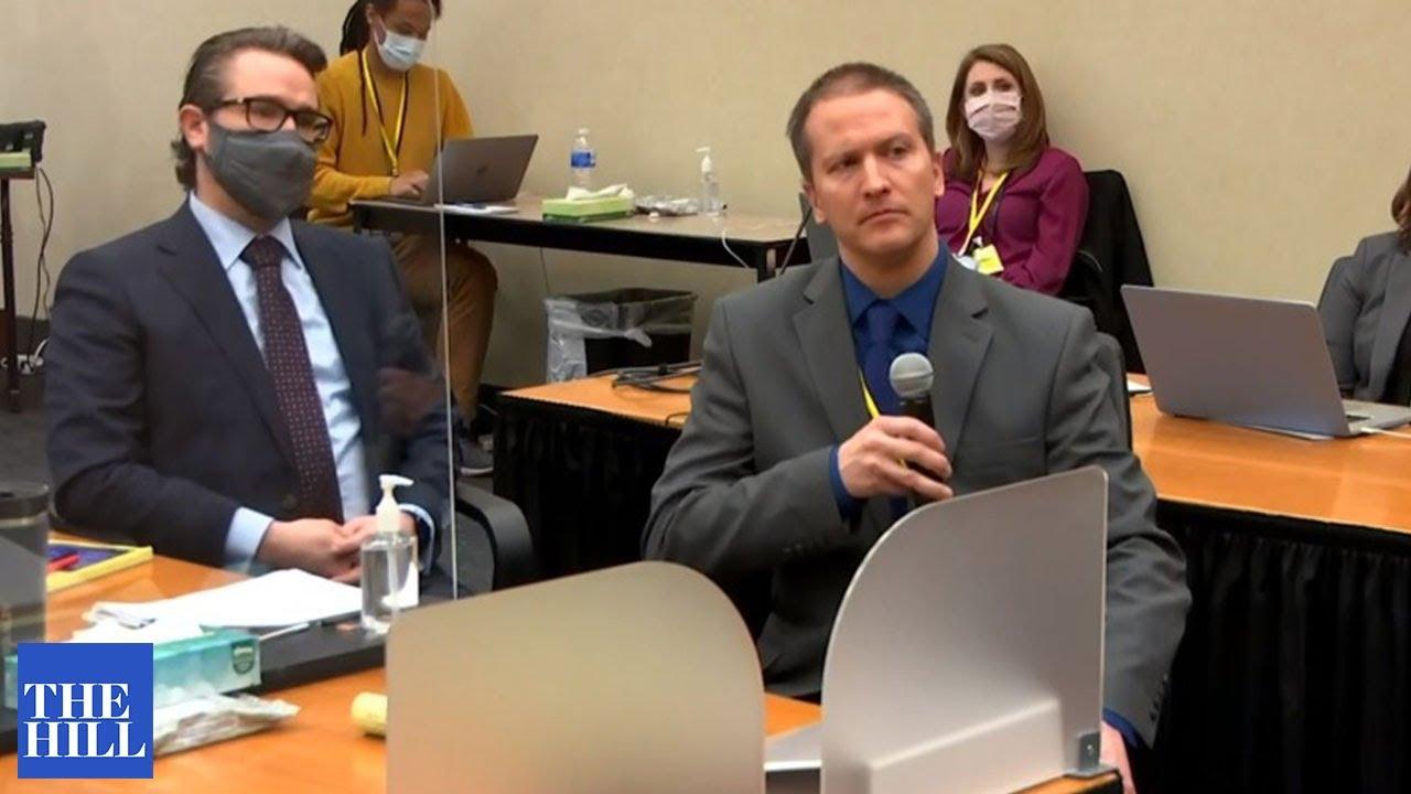 Just in: Derek Chauvin speaks during his trial