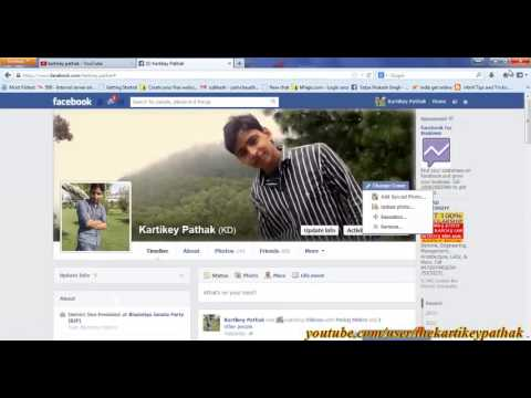 How to change profile pic and cover pic on facebook