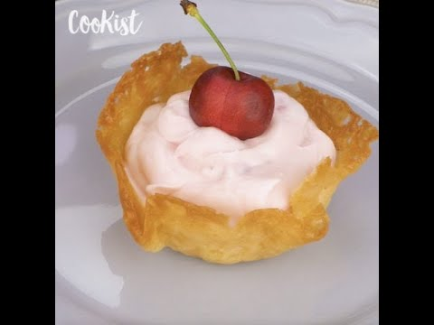 Sugar baskets: a unique way to serve dessert!