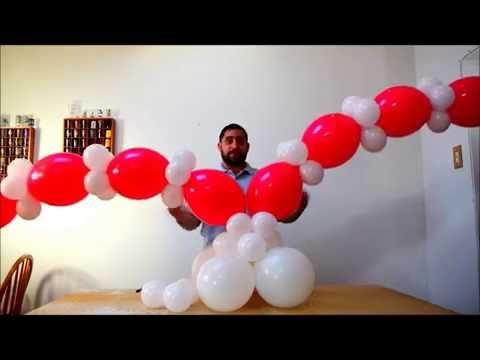 Heart balloon tutorial  How to make a heart column decoration
