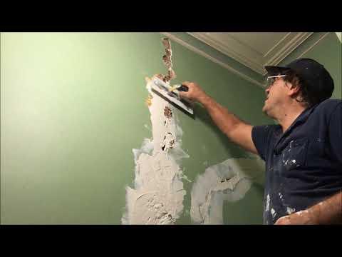 Movie Solid Plaster Repairs using CSR Cornice Cement 45