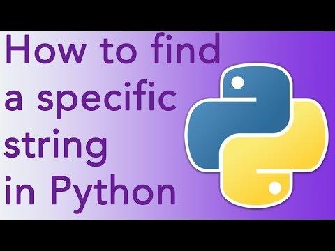 Python string find