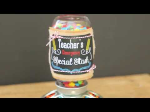 Easy Teacher Gift Idea (back to school - free printable)