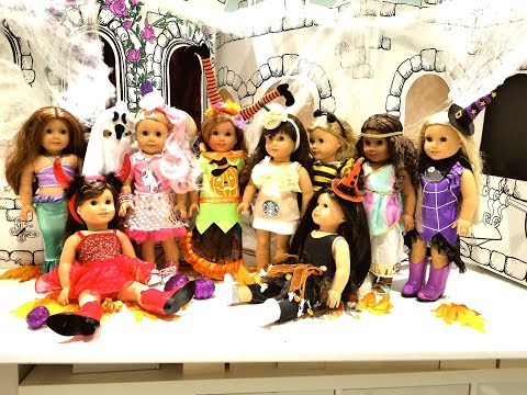 WHAT MY AG DOLLS ARE WEARING FOR HALLOWEEN *2017*
