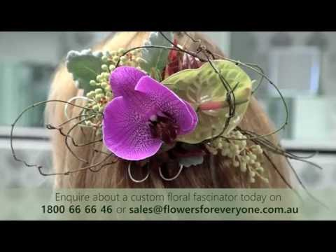 How to Make a Fresh Flower Fascinator for Your Hair - Live from Flowers for Everyone Sydney HQ
