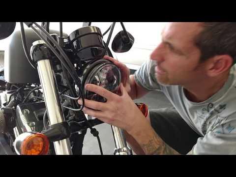 Harley Davidson sportster 48 install daymaker LED headlight tips