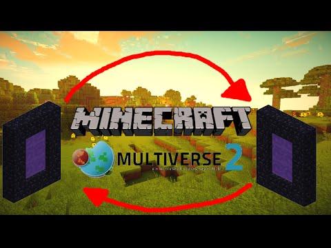 Minecraft 1.8 || Multiverse portals tutorial