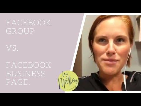 The difference between a Facebook group and Facebook business page.