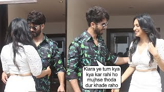 WATCH Shahid Kapoors Reaction When Kiara Advani Tried Coming Close To Him @ Kabir Singh Promotion