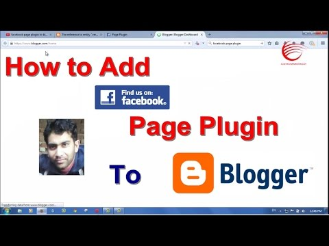 Add New Facebook Page Plugin To Blogger Blog New Method