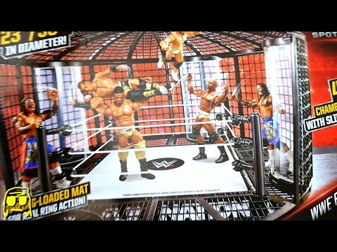WWE Elimination Chamber Playset Ring Toys R Us Exclusive Unboxing, Construction & Review!!