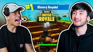 WE PLAYED FORTNITE FOR THE 1ST TIME!!