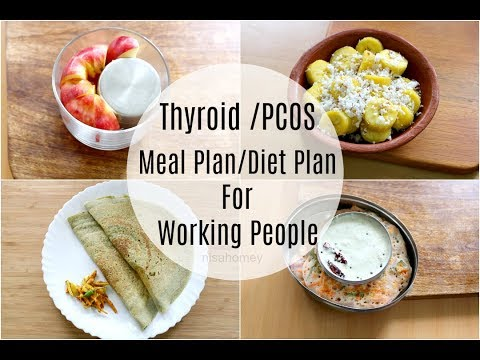 Thyroid   Pcos Meal Plan For Working People / Office Goers - Diet Plan To Lose Weight Fast - 5 kgs