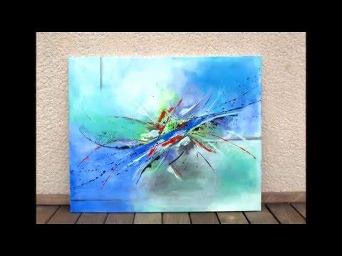 Peinture Abstraite Acrylique Demonstration Vidéo Hd Youtube