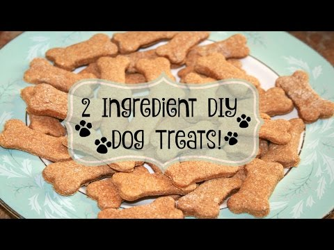 🐶 2 INGREDIENT DIY DOG TREATS 🐶