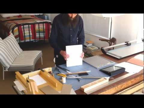 Handmade Photobook Bookbinding Time-lapse