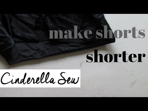 Cut shorts shorter - How to shorten a pair of shorts - Cinderella Sew - Easy DIY fashion tutorials