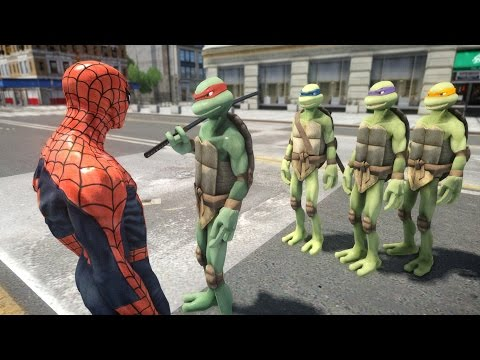 Mutant Teenage Ninja Turtles vs SPIDERMAN - EPIC BATTLE