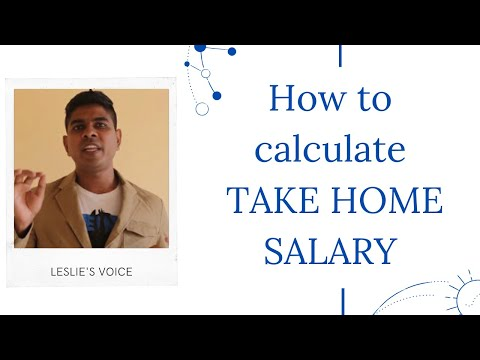 How to calculate TAKE HOME SALARY easily ?