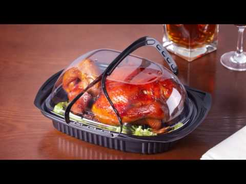 Disposable plastic food container / tray