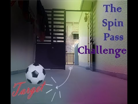Football spin pass challenge